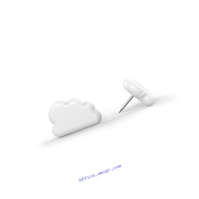 Fred & Friends Fred Puff Pins Cloud Pushpin, Set of 20, 20 Piece