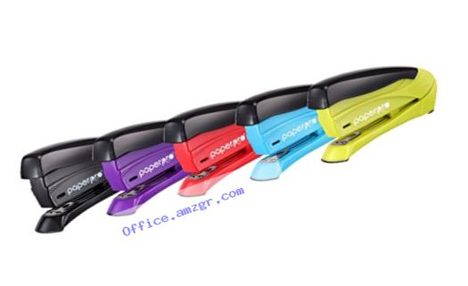 PaperPro inSPIRE 15 Sheet Stapler - One Finger, No Effort, Spring Powered Stapler - Assorted Colors, No Color Choice (1491)