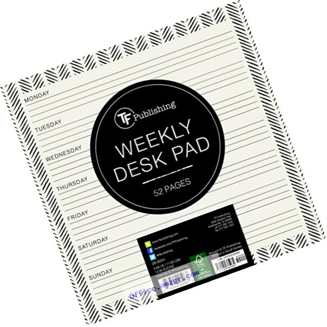 Ebony and Ivory Weekly Desk Pad